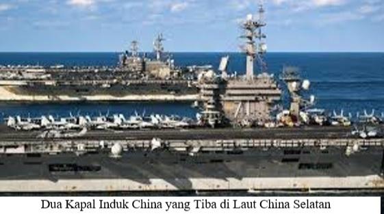 DUA KAPAL INDUK AMERIKA SERIKAT KEMBALI BERTEMU DI LAUT CHINA SELATAN, SETELAH 6 TAHUN